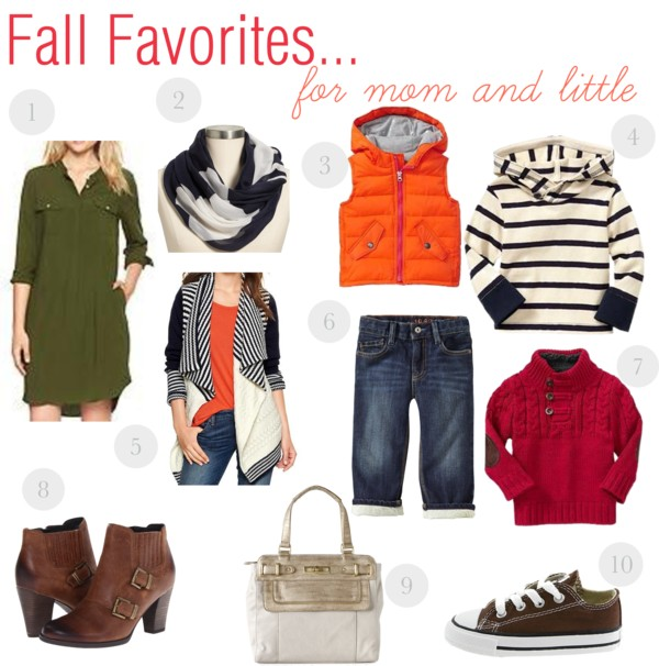 Fall Favorites....for mom and little