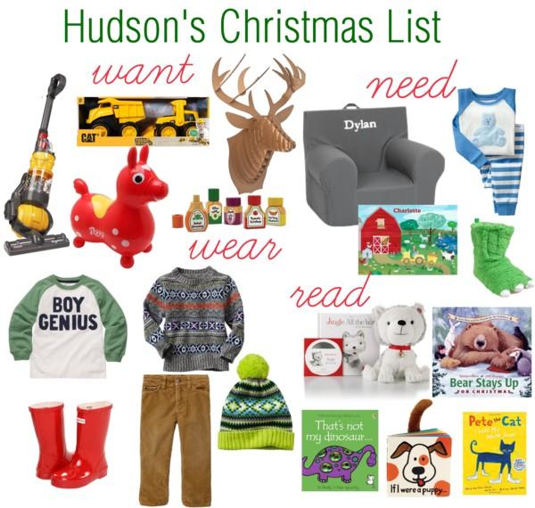 Hudson's wish list