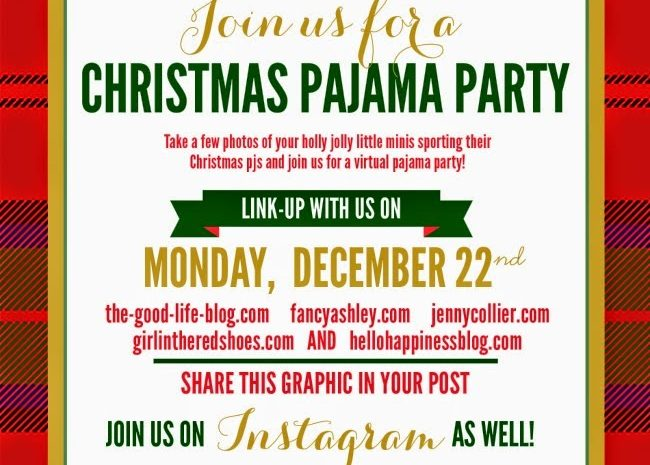 Christmas Pajama Party Link Up!
