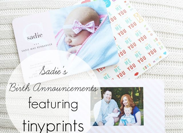 Sadie's Birth Announcements