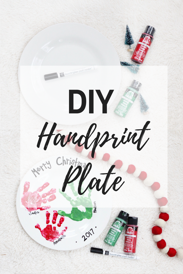 DIY Handprint Plate · The Girl in the