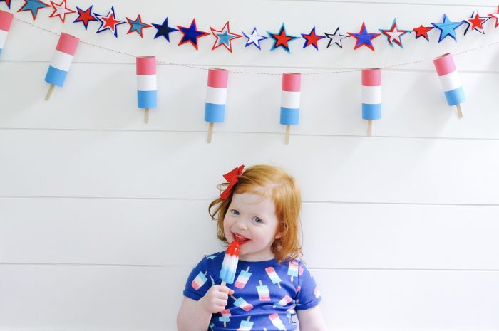 DIY Bomb Pop Garland