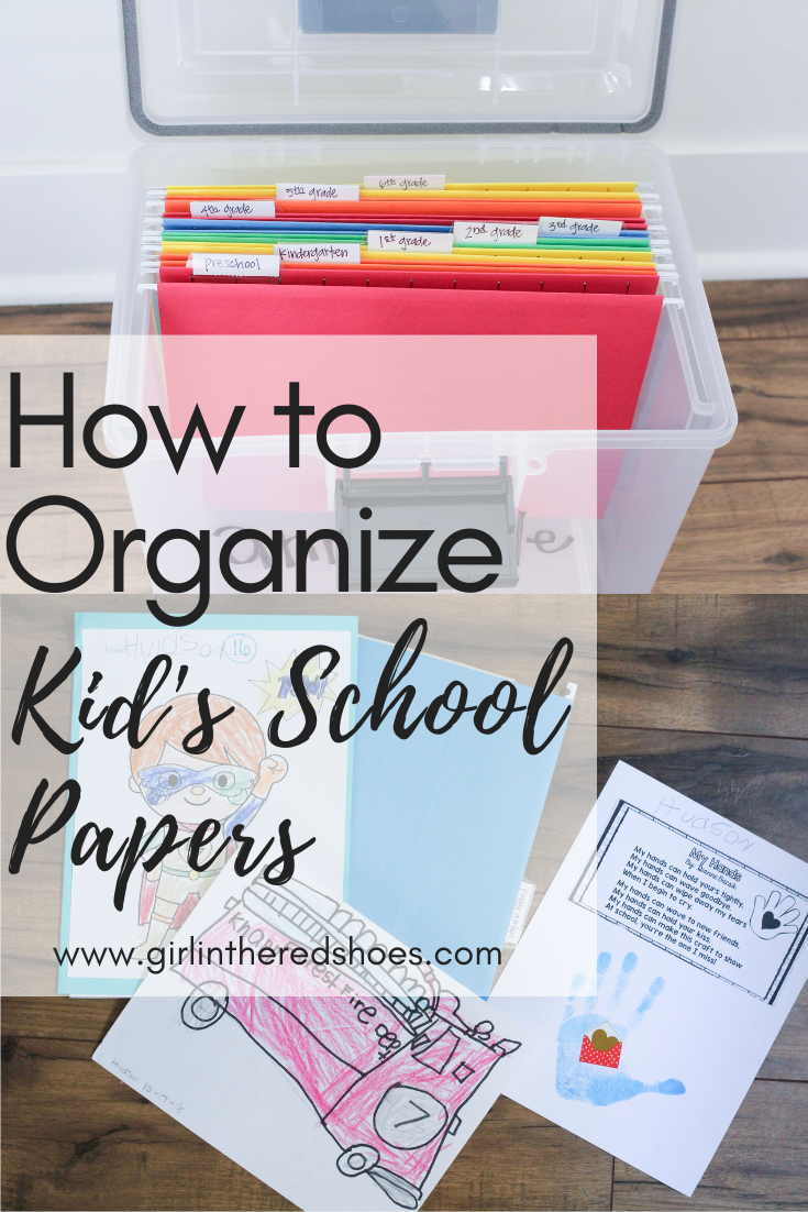 How to Organize Kid's School Papers