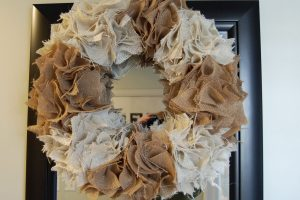 Saw it, Pinned it, Did it: Burlap Wreath