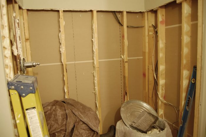 Bathroom progress and not much else….