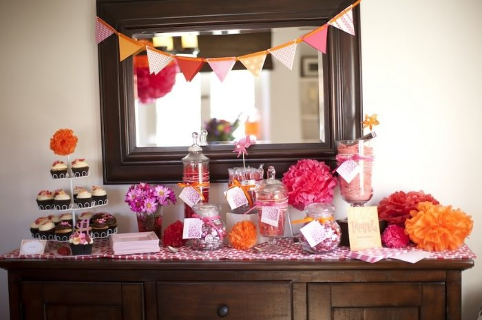 Erin's Pink, Orange, and Red Baby Shower