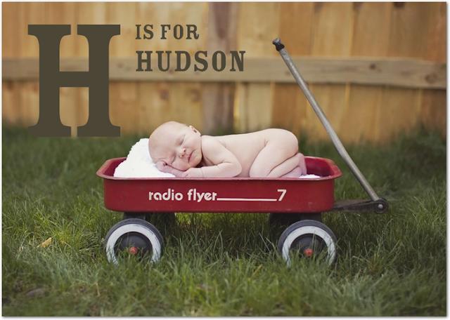 Hudson's Birth Announcement