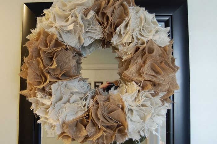 Saw it, Pinned it, Did it: Burlap Wreath