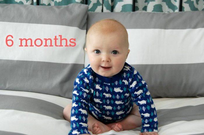 Happy 6 Months Hudson!