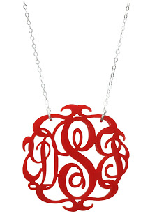 Monogrammed Necklace: A Giveaway
