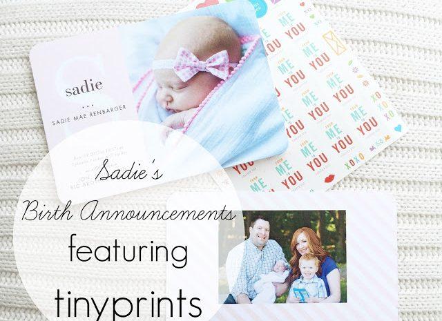 Sadie's Birth Announcements