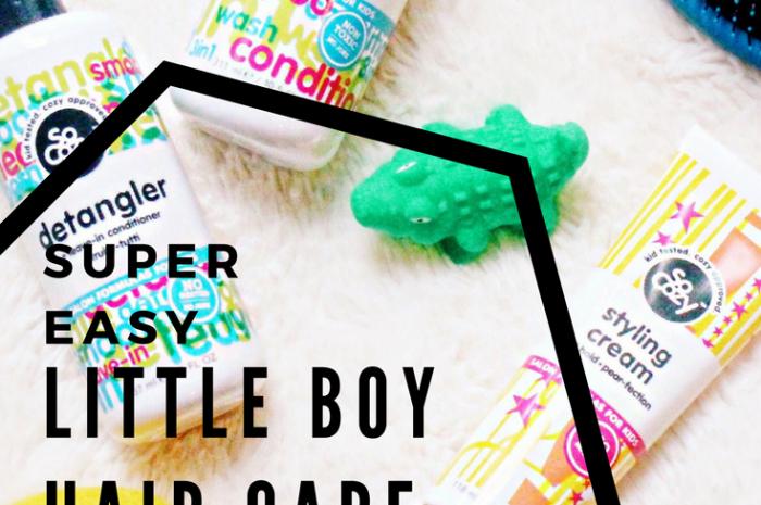 Super Easy Little Boy Hair Care Routine