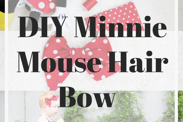DIY Minnie Mouse Hair Bow
