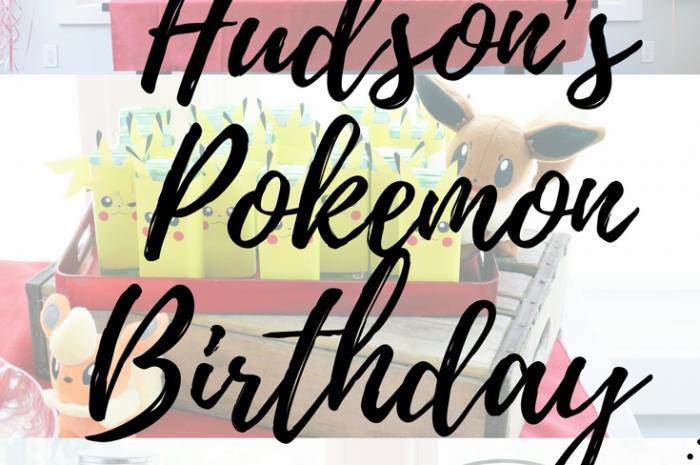 Hudson's Pokémon Birthday