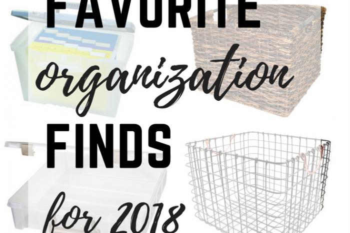 Favorite Organization Finds for 2018